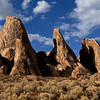 Rock formations in the Alabama Hills, near Lone Pine in the Owens Valley of California.