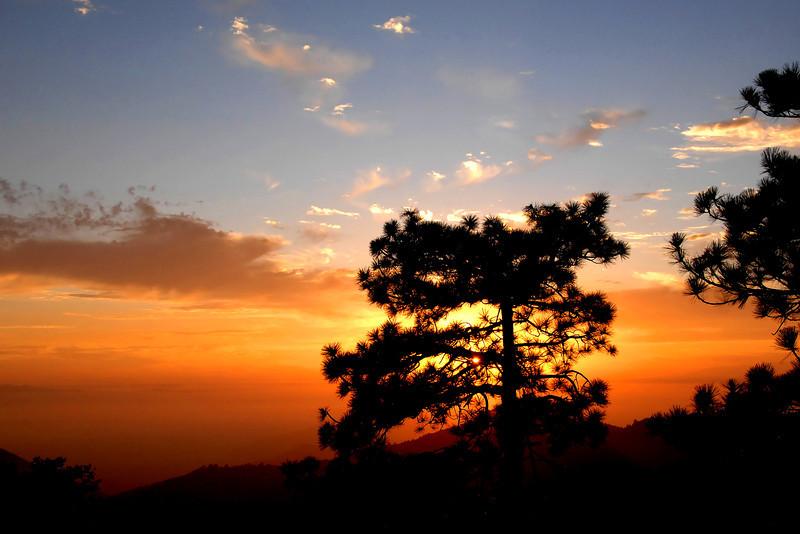 Sunset at Mt. San Jacinto, near Idyllwild, California.