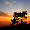Sunset at Mt. San Jacinto, near Idyllwild, California.
