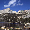 Lower Pine Lake on a bright clear morning, in the Eastern Sierra.