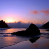 Sunset on the beach at beautiful Big Sur , California