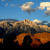 Sunrise on Lone Pine Peak and the Alabama Hills in the Eastern Sierra of California.