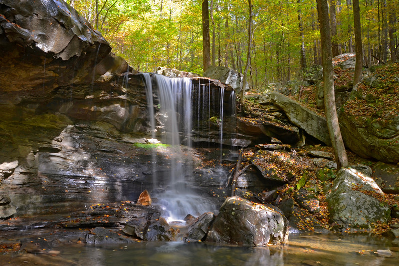 Upper Emory Gap Falls in Frozen Head State Park, Tennessee