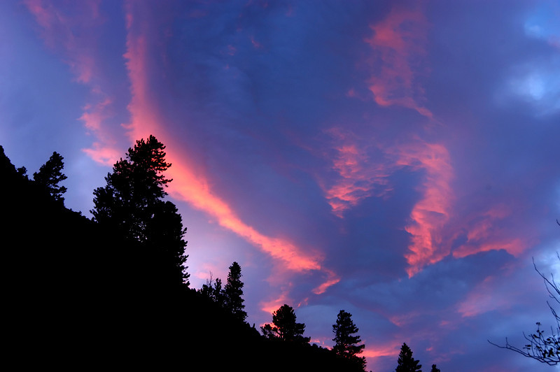 Sunset from Rock Creek Canyon in California's Eastern Sierras.