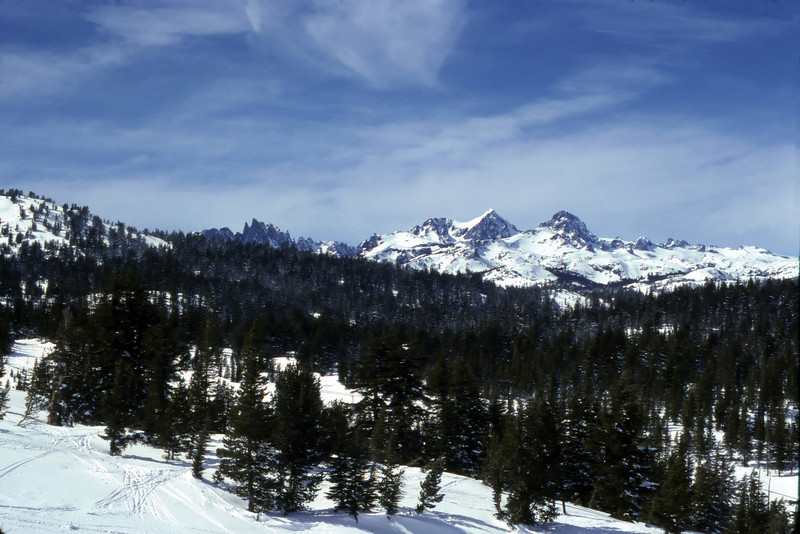 Winter view of the Sierras from Mammoth Mountain, California