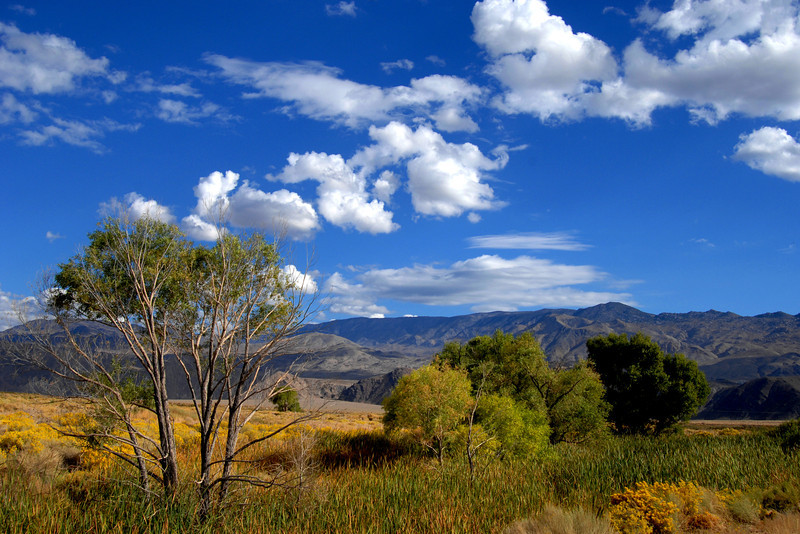 Owens Valley, California, near the town of Independence on Highway 395.