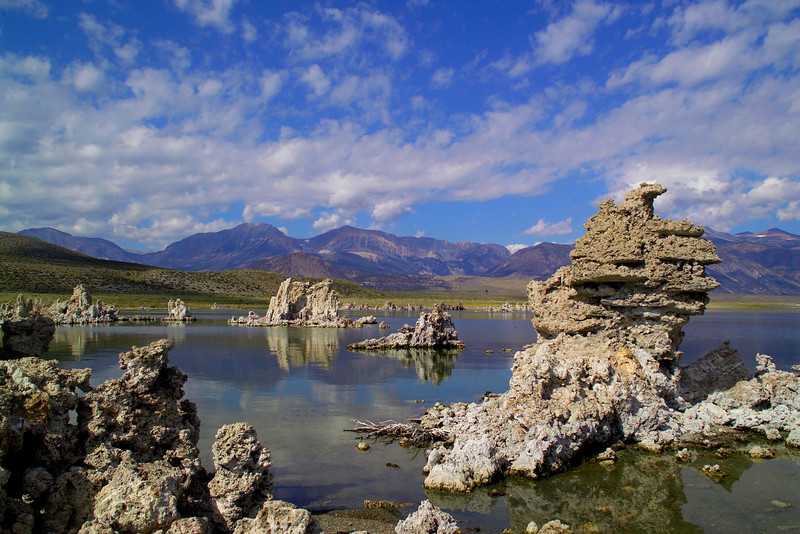 Mono Lake in the Eastern Sierra with its tufa rock formations.