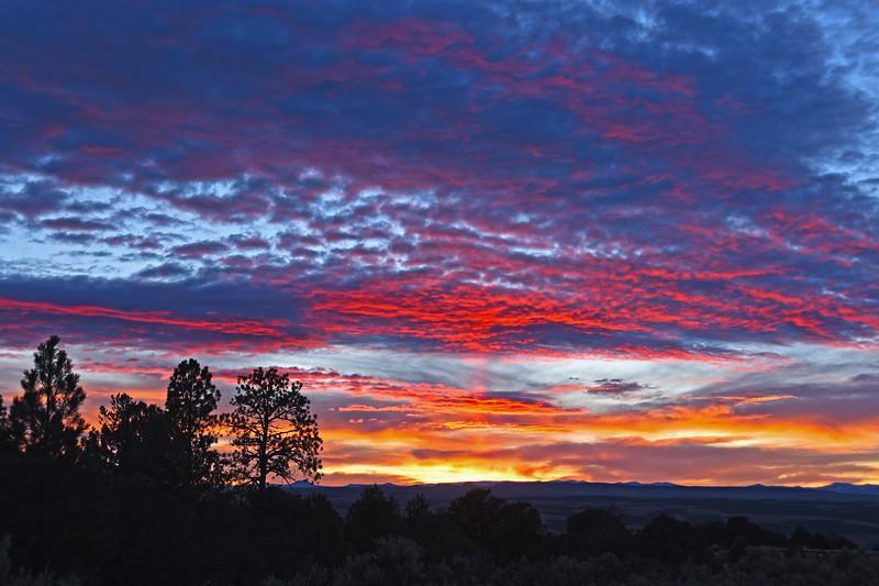 October sunset  near Red Canyon, Utah