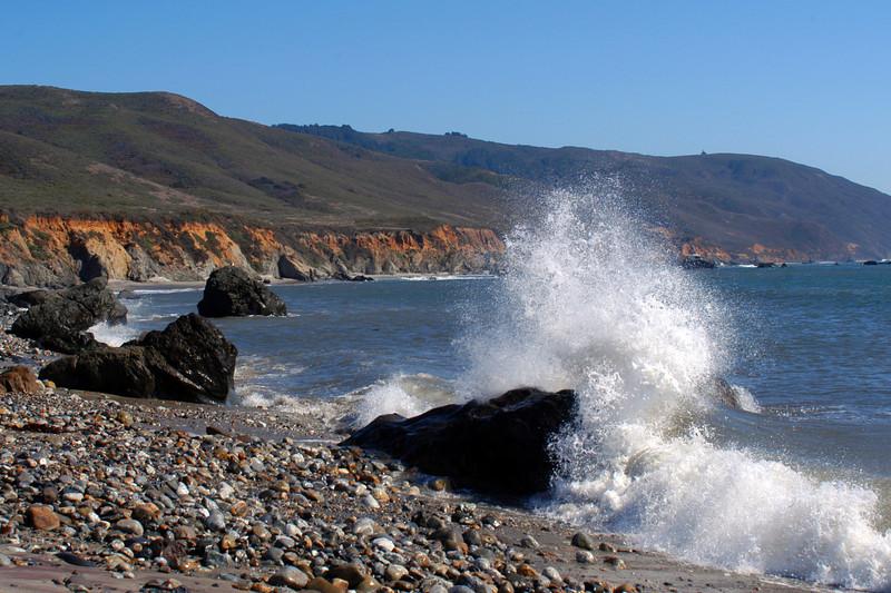 Crashing wave along the Big Sur Coast of California.