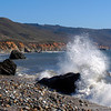 Crashing wave along the Big Sur Coast of California.