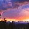 Rocky Mountain sunset 1 from Evergreen, Co.
