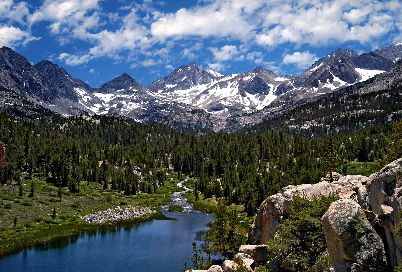 View to the Sierra crest in the Rock Creek basin of California.