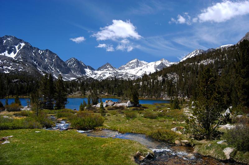 Beautiful Heart Lake in the Little Lakes Basin of the Eastern Sierra of California.