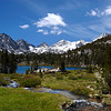 Beautiful Heart Lake in the Little Lakes Basin of the Eastern Sierra of California.