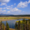 The Yellowstone River flows through Hayden Valley in Yellowstone National Park.