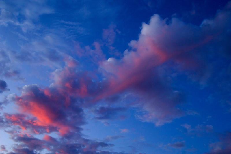 California colorful evening sky.