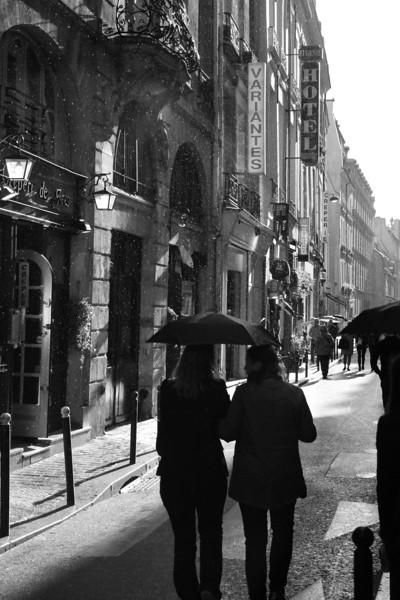 Rue St. Andre des Arts B&W