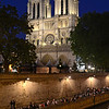 Notre Dame and and the Seine on a warm night in May