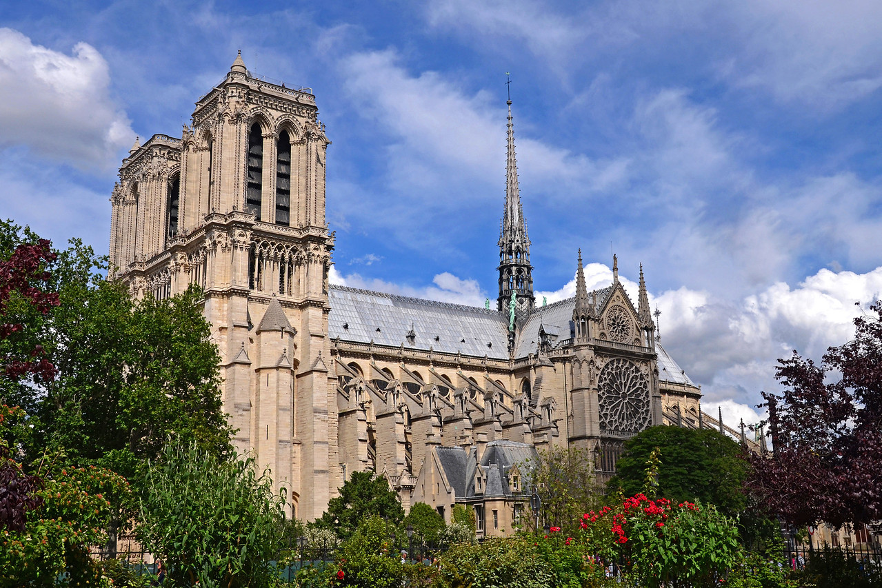 View of Notre Dame from the  Square Rene Viviani