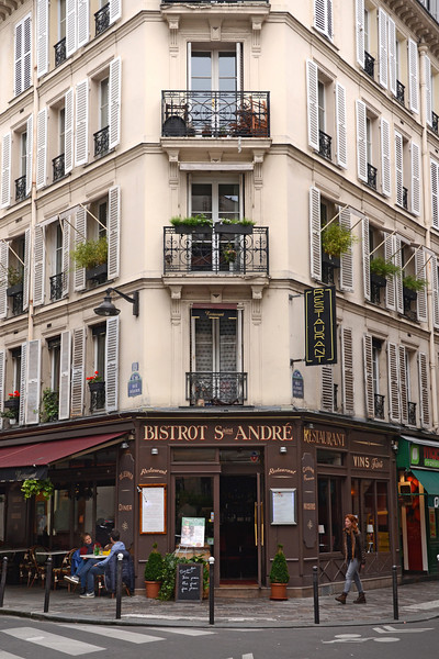 Bistro Saint Andre on the Rue St. Andre des Arts, in Paris