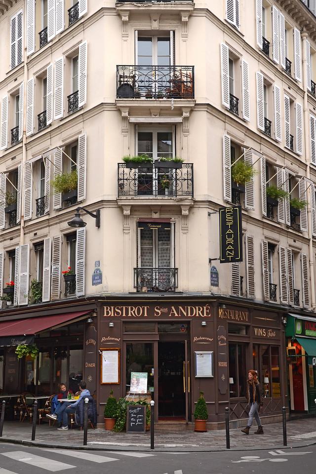 Bistro Saint Andre on the Rue St. Andre des Arts, in Paris