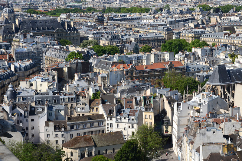 Latin Quarter view from the Notre Dame tower