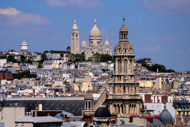 View to the Sacre Cour from the roof of Printemps department store