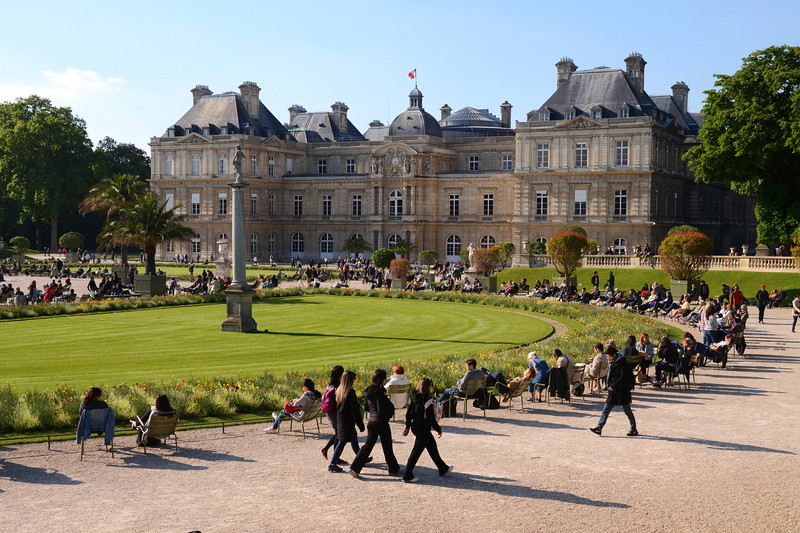 Enjoying Luxembourg Gardens on a nice afternoon