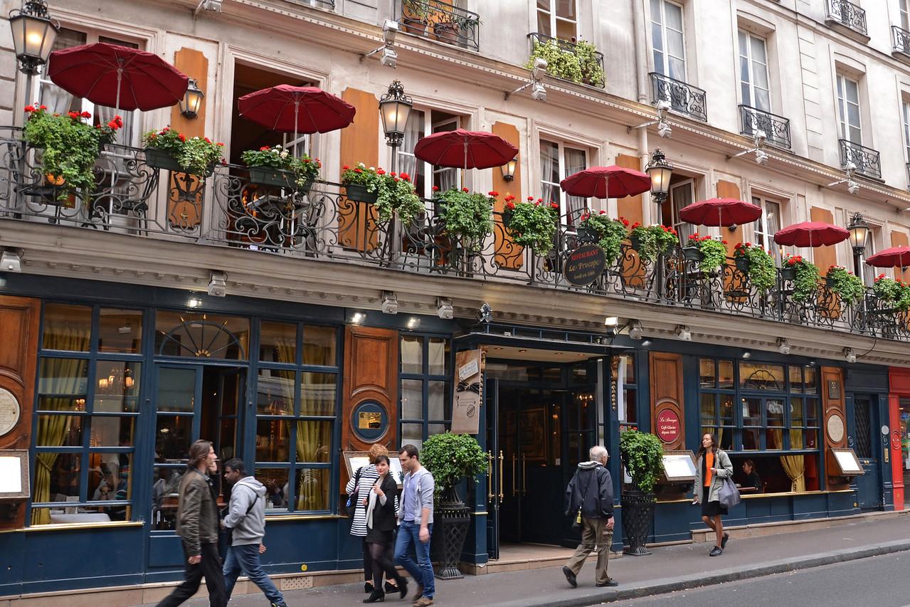 Le Procope Restaurant, since 1686