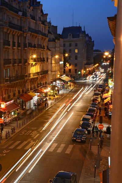 Night view down the Rue St. Jacques