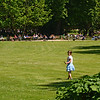 Little girl in Luxembourg gardens