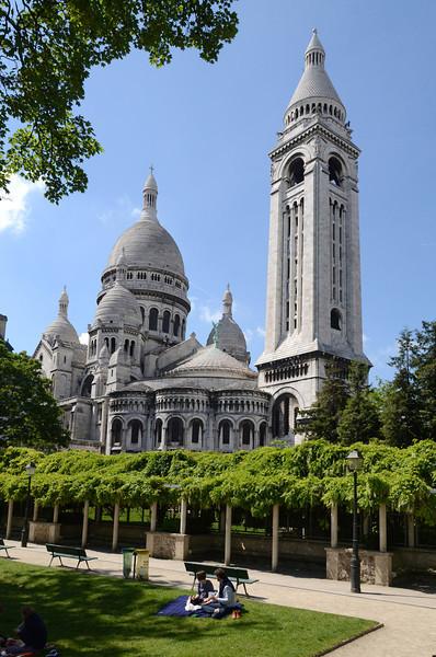 Parc de la Turlure and the Sacre Coeur
