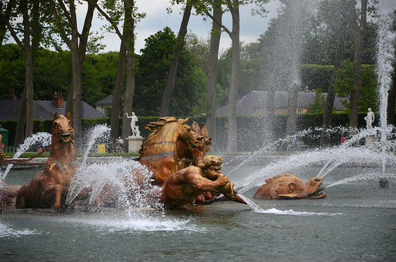 Close up view of the Apollo Fountain at Versailles