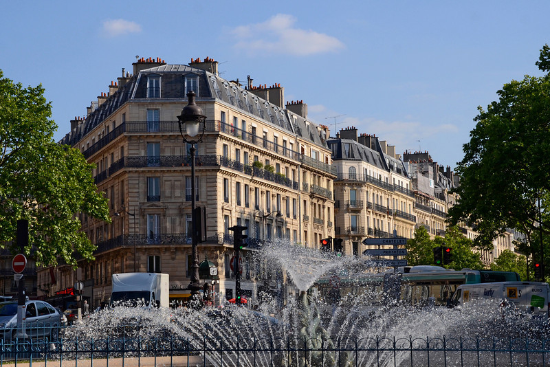Place Edmond Rostand, looking up Blvd. Saint Michel