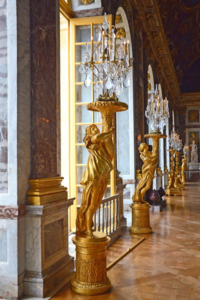 Inside the Hall of Mirrors at the Palace of Versailles
