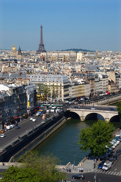 View of Paris with the Seine and Eiffel Tower