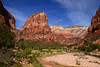 Zion canyon view with Angels Landing