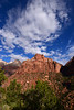 Morning view of red rocks in Zion National Park