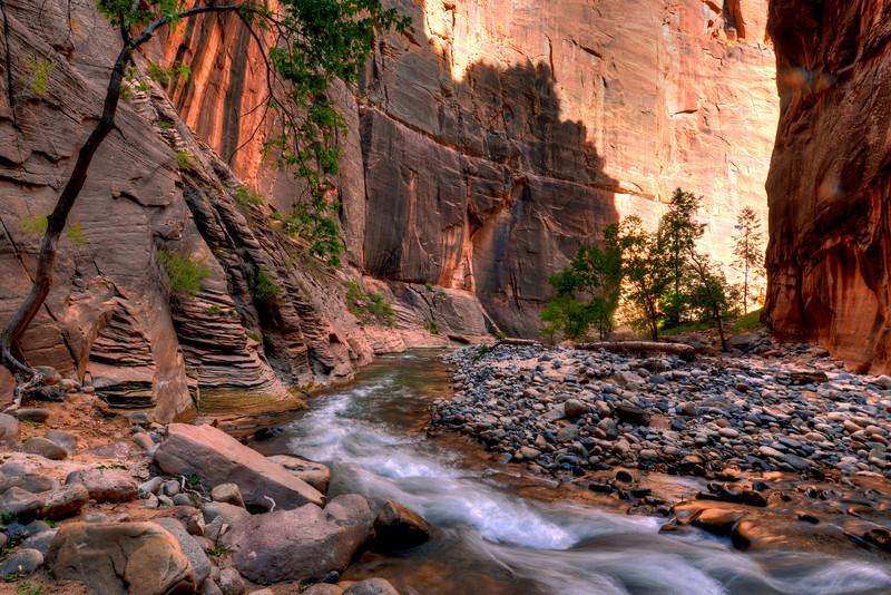 Virgin River in The Zion Narrows