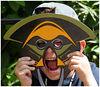 Evan monkeying around, San Diego Zoo.