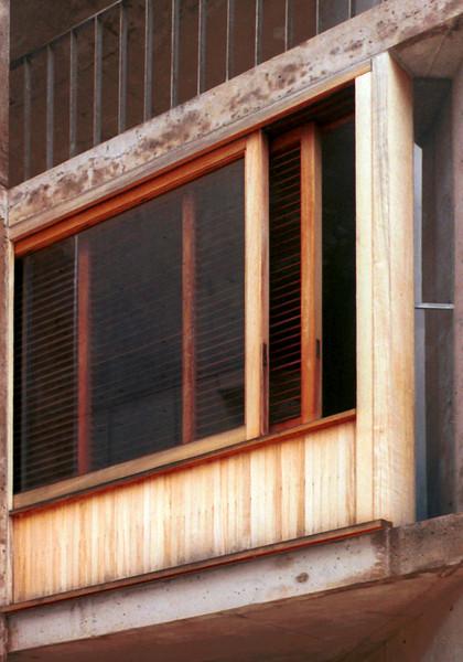 Details of window frame, Salk Institute