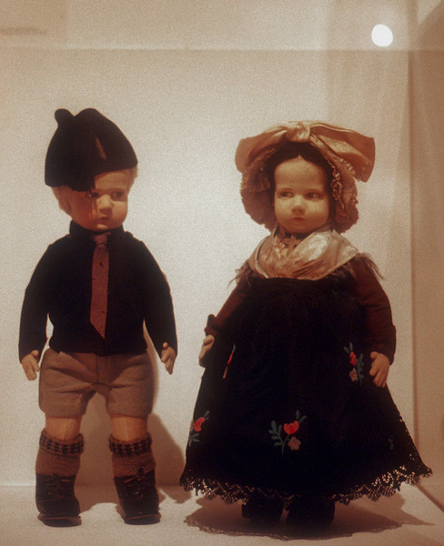 """Italian Dolls that have what I called """"an attitude"""".   Mingei Museum, San Diego"""