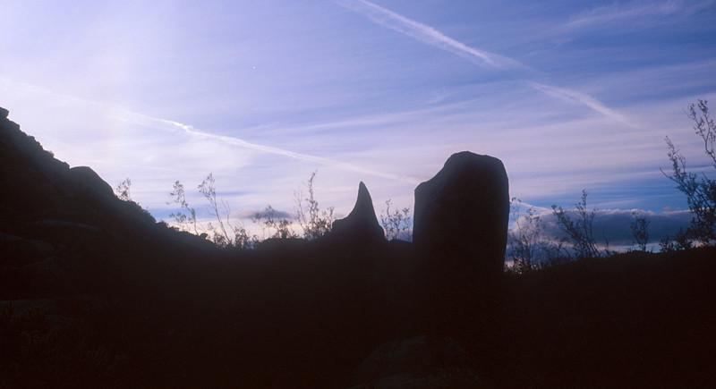 Remain of an Indian settlement on Anza-Borrego Desert State Park