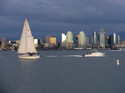 The San Diego Skyline taken from Shelter Island.