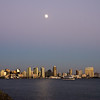 Full moon over San Diego.