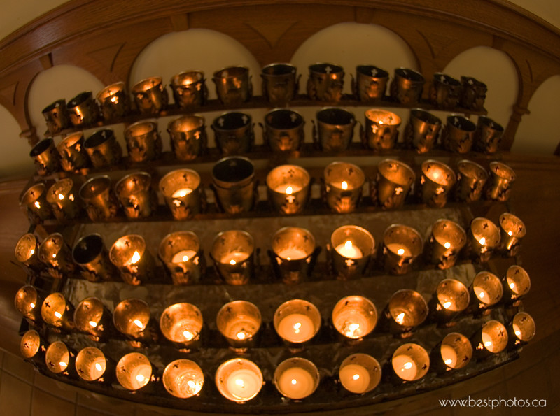 Old Town church prayer candles