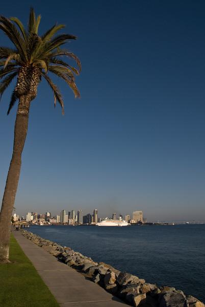 A cruise ship in San Diego.