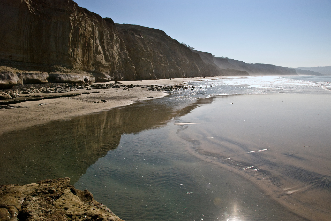 #133 Torrey Pines Beach reflections