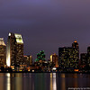 Down town San Diego from Coronado. The cluster of buildings with the hexagonal roofs is Emerald Plaza.