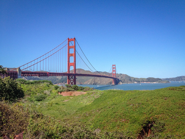 A view from the San Francisco side on the bike path